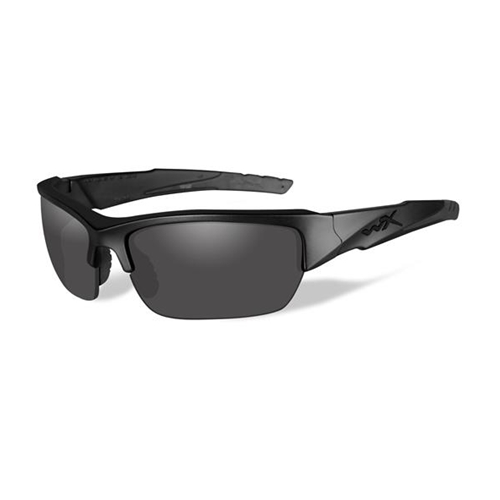 Wiley X Valor Sunglasses | Polarized Smoke Grey Lens/Black Op Matte Black Frame