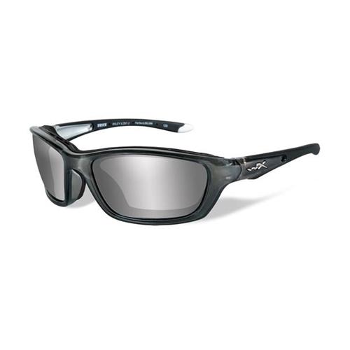 b1082b37cb7 Wiley X Brick Sunglasses Silver Flash Lens Crystal Metallic Frame