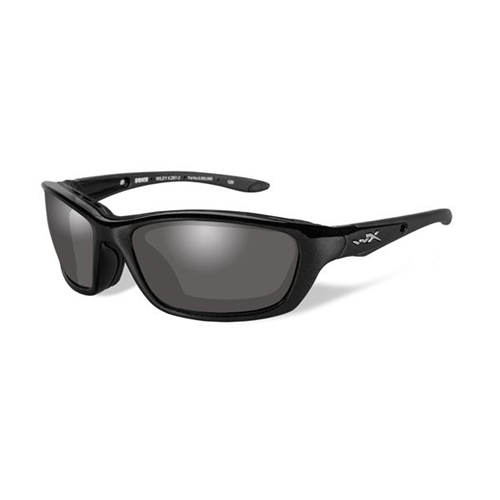 Wiley X Brick Sunglasses LA Grey Lens/Metallic Black Frame