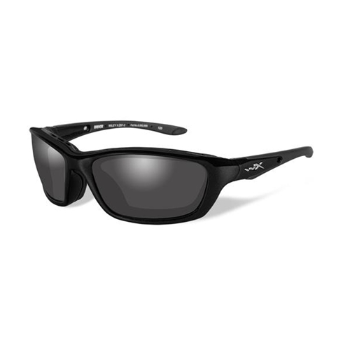 Wiley X Brick Sunglasses Polarized Smoke Grey Lens/Gloss Black Frame