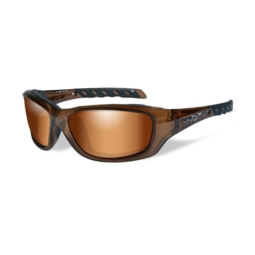 Wiley X Gravity Sunglasses | Bronze Flash Lens/Brown Crystal Frame